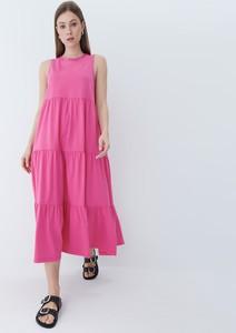 Sukienka Mohito maxi bez rękawów z okrągłym dekoltem