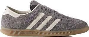 Trampki Adidas niskie z nadrukiem z płaską podeszwą