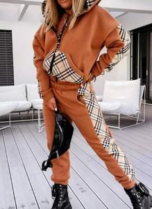 Brązowe spodnie sportowe Sandbella z dresówki