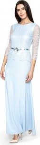 Sukienka POTIS & VERSO maxi z długim rękawem z satyny