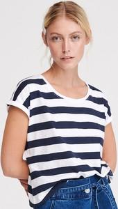 T-shirt Reserved z okrągłym dekoltem z bawełny z krótkim rękawem