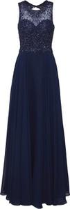 Niebieska sukienka Unique maxi