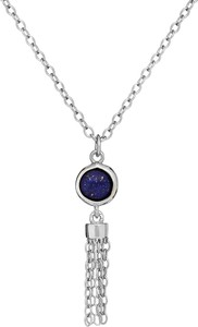 Ania Kruk Naszyjnik OVAL srebrny z naturalnym lapis lazuli