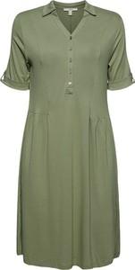 Zielona sukienka Esprit z dekoltem w kształcie litery v