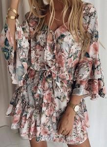 Sukienka Sandbella z długim rękawem hiszpanka