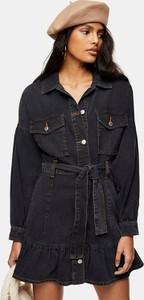 Sukienka Topshop mini szmizjerka z jeansu