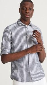 Niebieska koszula Reserved w stylu casual z bawełny