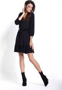 Czarna sukienka Ivon mini oversize