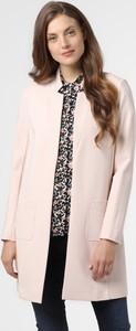 Różowy płaszcz comma, z dresówki