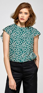 Zielona bluzka Colett z krótkim rękawem