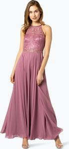 Sukienka VM z dekoltem halter trapezowa bez rękawów
