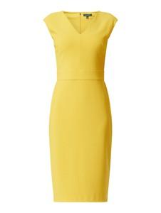 Żółta sukienka Ralph Lauren bez rękawów w stylu klasycznym dopasowana