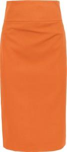 Pomarańczowa spódnica Style midi