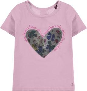 Koszulka dziecięca Tom Tailor dla dziewczynek z krótkim rękawem
