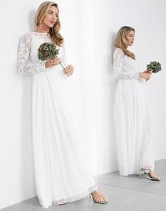 Sukienka Asos z długim rękawem z dekoltem w kształcie litery v