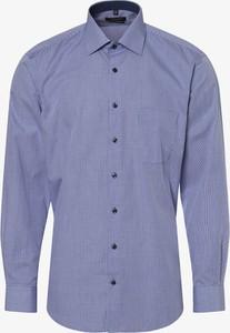 Niebieska koszula Andrew James z długim rękawem z klasycznym kołnierzykiem