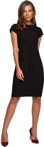 Czarna sukienka Stylove z krótkim rękawem