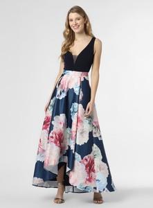 Sukienka Swing z szyfonu maxi z dekoltem w kształcie litery v