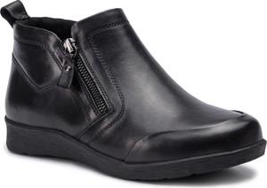 Czarne botki Go Soft w stylu casual na zamek