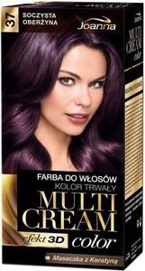 Joanna Multi Cream Color farba do każdego typu włosów nr 37 soczysta oberżyna 120 ml