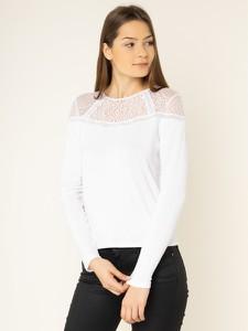 Bluzka Guess z długim rękawem w stylu glamour z okrągłym dekoltem