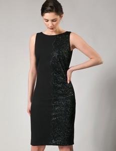 Czarna sukienka Molton bez rękawów