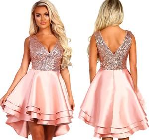 0379b65f cekinowa rozkloszowana sukienka - stylowo i modnie z Allani