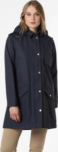 Granatowy płaszcz Barbour w stylu casual