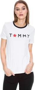 T-shirt Tommy Hilfiger w stylu casual z okrągłym dekoltem z krótkim rękawem