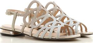 Sandały Elvio Zanon w stylu casual ze skóry