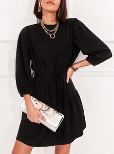 Czarna sukienka SELFIEROOM mini z długim rękawem