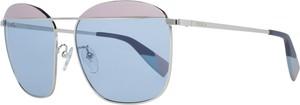 Niebieskie okulary damskie Furla Vintage