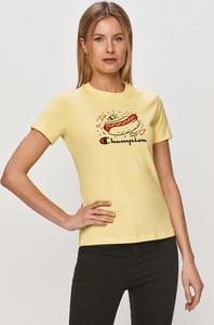 T-shirt Champion z krótkim rękawem z bawełny w sportowym stylu