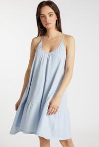 Niebieska sukienka FEMESTAGE Eva Minge w stylu casual mini