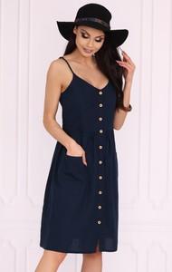 Czarna sukienka MERRIBEL z bawełny