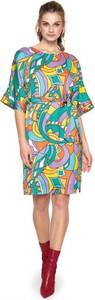 Sukienka L'AF z długim rękawem midi z tkaniny