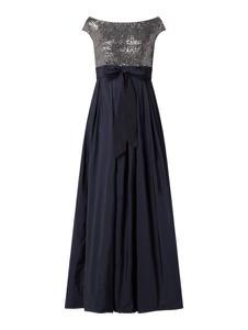 Granatowa sukienka Swing maxi bez rękawów z okrągłym dekoltem