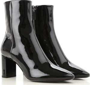 Buty zimowe Yves Saint Laurent ze skóry w stylu glamour