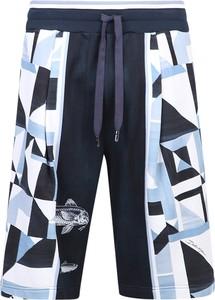 Niebieskie spodenki Dolce & Gabbana z bawełny
