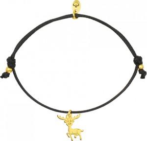 Perlove Bransoletka sznurkowa Złoty Renifer