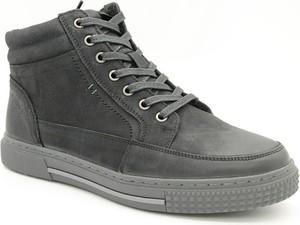 Czarne buty zimowe American Club sznurowane
