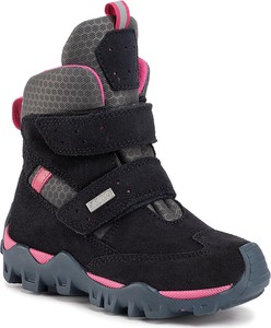 Czarne buty dziecięce zimowe Bartek na rzepy