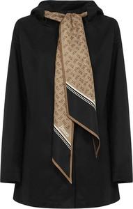 Czarny płaszcz Herno w stylu casual z bawełny