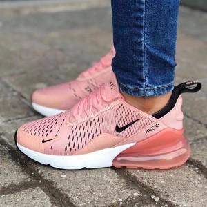 Różowe buty sportowe Nike z płaską podeszwą sznurowane