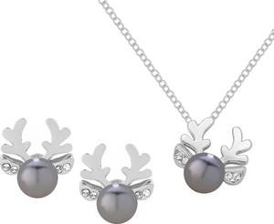 Perlove Komplet Biżuterii Reniferki z Perełką
