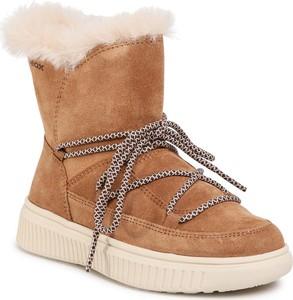 Buty dziecięce zimowe Geox sznurowane dla dziewczynek