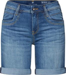Niebieskie szorty Tom Tailor z jeansu