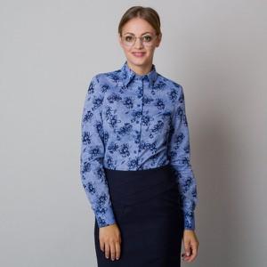 Niebieska koszula Willsoor w stylu casual z tkaniny