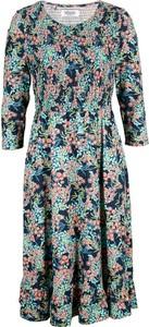 Sukienka bonprix midi z dżerseju z długim rękawem