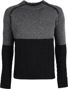 Czarny sweter Trussardi z dzianiny